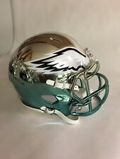 EAGLES custom  green CHROME  riddell speed mini helmet
