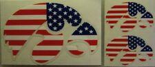 Iowa Hawkeyes Decal Sticker Military Red White & Blue - 3 Decals