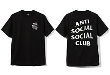 Auth Anti Social Social Club ASSC Classic white Logo Mind Games Black Tee Shirt