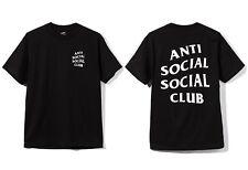 Auth Anti Social Social Club SS19 ASSC Classic white Logo Black Tee Shirt Bape