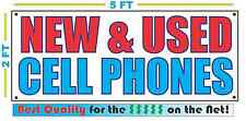 NEW & USED CELL PHONES Banner Sign NEW Larger Size Best Quality for The $$$