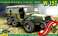 ACE 72536 French WW2 Artillery Tractor (6x6) W15T (6 Rubber Tires, Decal) 1/72