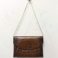 Givenchy Brown Croc Alligator Leather Antigona Tisci Olsen Clutch Shoulder Bag