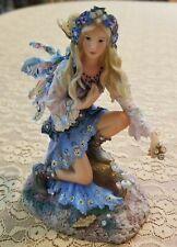 Multi-Color Mystical Fairy Figurine Wearing Cowboy Boots Trimmedw/ Rhinestones