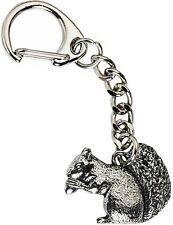 Squirrel Keyring - Quality Pewter Key-Chain