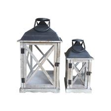 Home Collection Set di 2 portacandele da Parete in Metallo Colore: Nero Altezza 41 cm