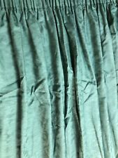 "Curtains Whitehead Fabrics Green Damask 109"" W x 72"" L Lined"