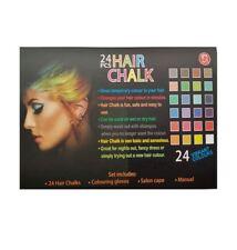 Non-toxic Temporary Hair Chalk Dye Soft Pastels Salon Kit 24pcs Colour Set