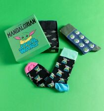 Official The Mandalorian The Child Pack of Three Socks in Gift Box
