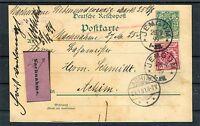 Deutsche Reichspost Nachnahme Ganzsache 5 Pfg. ZuF 10 Pfg. Jemgum-Achim