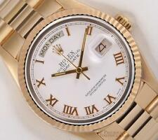 Rolex Day-Date President 18k Solid Yellow Gold 18038 Watch-White Roman Dial-2WTY