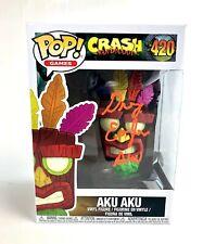 """Greg Eagles Autograph Signed Funko Pop! - Crash Bandicoot """"Aku Aku"""" (Jsa Coa)"""