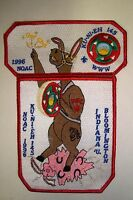 OA KU-NI-EH LODGE 145 DAN BEARD COUNCIL 2-PATCH GMY PEDRO DONKEY NOAC 1996 FLAP