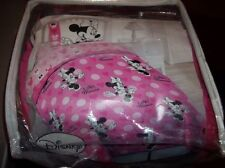 NWT Disney MINNIE MOUSE Mickey 4Pc Twin Reversible Comforter & Sheet Set Cotton