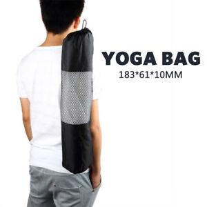 Sale Portable Yoga Mat Carry Bag Mesh Center Adjustable Strap Nylon Carrier