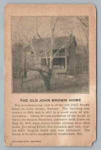 Old John Brown Home~Antique Linn County Kansas Abolitionist Amsterdam Missouri