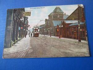 Postcard of Scotland Road, Nelson (Foggitt's Drugs Stores) posted