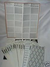 Pre Printed Pattern Sets Knitmaster Knitting Machine 2 - K52.51/52