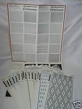 Pre stampati motivo Set Knitmaster Macchina per Maglieria 2 - K52.51/52