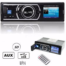 M.way AUTORADIO In-Dash STEREO MP3 Player RADIO LETTORE FM USB SD AUX RICEVITORE
