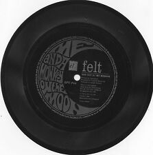 """FELT get out of my mirror 1989 UK el/cherry red 7"""" 1 SIDED PROMO FLEXI-DISC"""