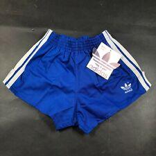 Vintage Adidas Trefoil Boys Youth L 28-30 Blue Running Shorts Cloth White NWT