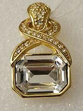and Rhinestones Pendant Only 12302014 Parklane Vintage GoldTone Large Crystal