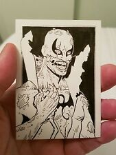 MARVEL ZOMBIES IRON FIST ORIGINAL SKETCH TRADING CARD ACEO PSC