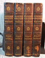 4 Vol Life of Napoleon Bonaparte William Milligan Sloane Century Leather 1896