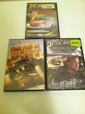 LOT OF 3 DVDS Fist Full of Dirt, Jesse James Off Road, Tuner Transformation NEW