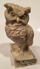 Vintage ATHENA MARBLE OWL Statues Sculptures Bonded Heavy Harry Potter Knowledge