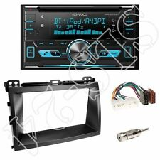 Kenwood dpx5000bt radio + Toyota Land Cruiser 2-din diafragma Black + ISO-adaptador