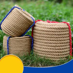 30M Natural Burlap Jute Cord Rustic Braided String Hemp Rope Linen Gift Wrap