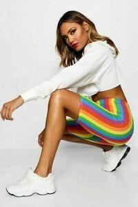 Women's Rainbow Stripe Cycle Short  SportsWear casual wear Cycling sports wear