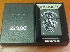 SOA SONS OF ANARCHY GRIM REAPER BLACK MATTE ZIPPO LIGHTER MINT IN BOX
