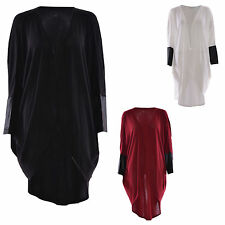 Regular Size Polyester Long Jumpers & Cardigans for Women