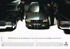 PUBLICITE ADVERTISING 064  1993  RENAULT CLIO   BACCARA  ( 2 pages)