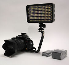 Pro 12 LED DSLR video light w/ EN-EL15 battery for Nikon D7200 D7100 D7000 1 V1
