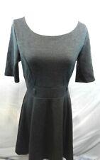 Forever 21 Large Women's Dress Gray Striped Design Knee Length Short Sleeve