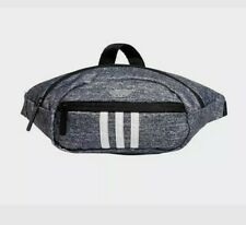 New Adult Adidas National 3 Stripes Waist Bag/Fanny Pack Onix Jersey/White
