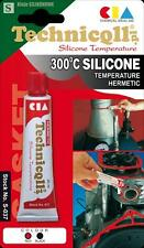 RED HIGH TEMPERATURE SILICONE ADHESIVE SEALANT 20ml HEAT RESISTANT 300'C