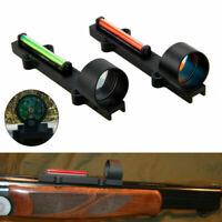 1X28 Circle Dot Fiber Sight Reflex Scope Sight Fit Shotgun Rib Rail Hunting NEW