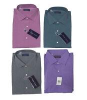 Ralph Lauren Purple Label Italy Mens Solid Button Down Spread Sport Dress Shirt