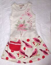 Baby Girl's 18 - 24 Months Misha Lulu Red Birds Tank Pocket Skirt Outfit Set