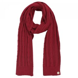 Regatta Womens Multimix II Cable Knit Warm Winter Scarf Red RRP £25