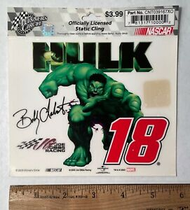 "Bobby Labonte #18 ""Hulk"" - Clingy-  NASCAR"