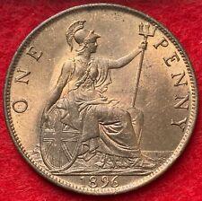 More details for victoria, bronze penny, 1896, lustrous unc