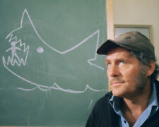 Jaws Color Graph Robert Shaw By Shark Chalk Drawing Classic 16x20 Canvas Giclee