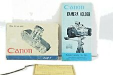 Canon Model III Camera & Camera Holder Instruction Booklet English AC (129)
