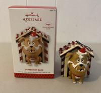 2013 Hallmark Keepsake Ornament Peppermint Bark Christmas Tree Dog Talks Mint
